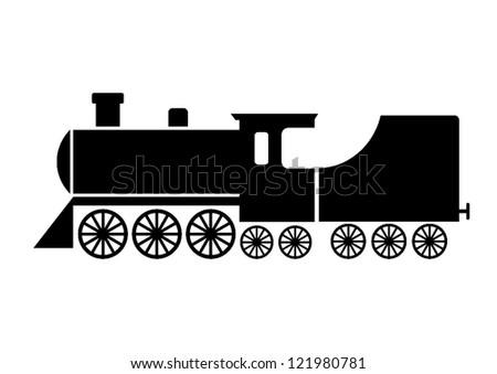 Locomotive icon - stock vector