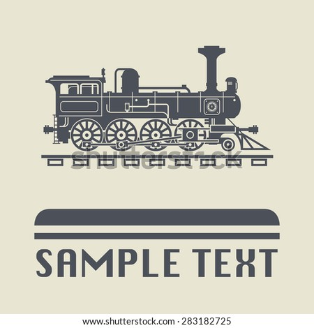 Locomotive icon or sign, vector illustration - stock vector