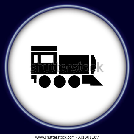 Locomotive icon . Vector illustration. - stock vector