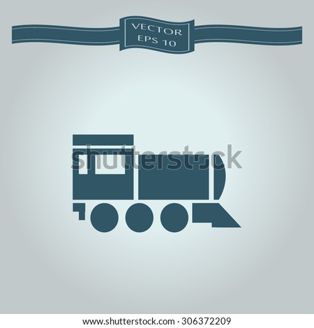 Locomotive icon . Vector illustration - stock vector