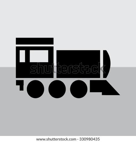 Locomotive icon . Vector illustration. - stock vector