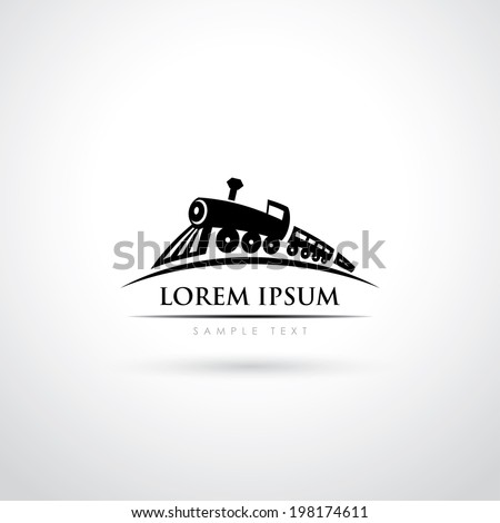 Locomotive symbol - vector illustration - stock vector