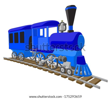 Locomotive -  Vector Artwork (isolated on white background). - stock vector