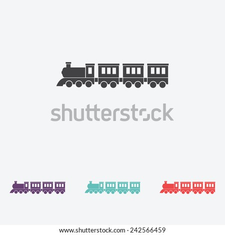 Locomotive vector icon - stock vector
