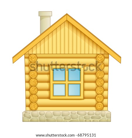 Log house icon. Vector EPS10
