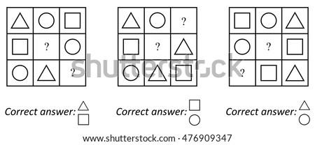 iq test for preschoolers logic iq test childrens educational task stock vector 346