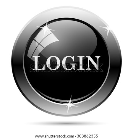Login icon. Internet button on white background. EPS10 vector  - stock vector