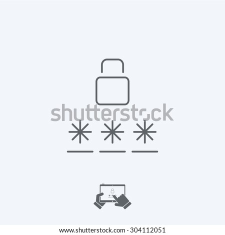 Login icon - Thin series - stock vector