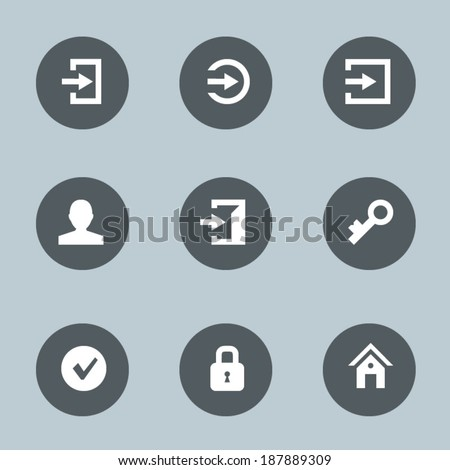 Login icons - stock vector