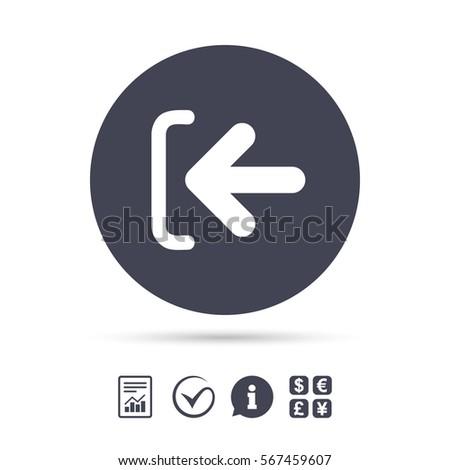 Login Sign Icon Sign Symbol Arrow Stock Vector 567459607 Shutterstock