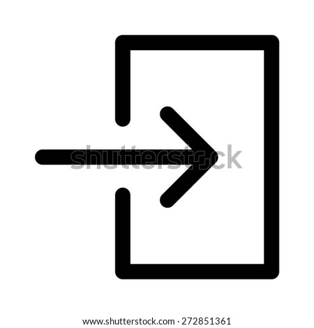 Login (sign in) line art icon for apps and websites - stock vector