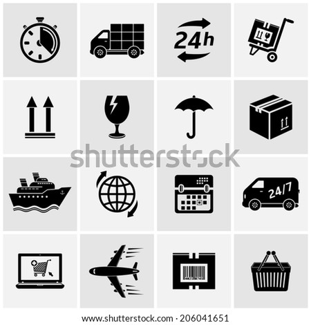 Logistic and delivery icons - stock vector