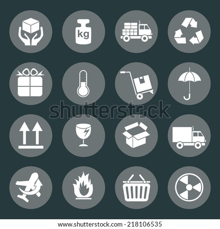 Logistic and packing icon - stock vector