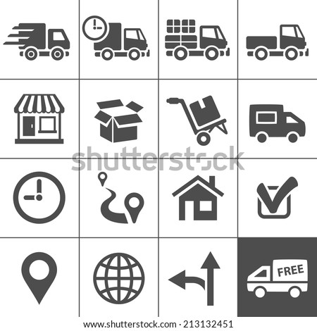 Logistic and transportation icons. Vector illustration - stock vector