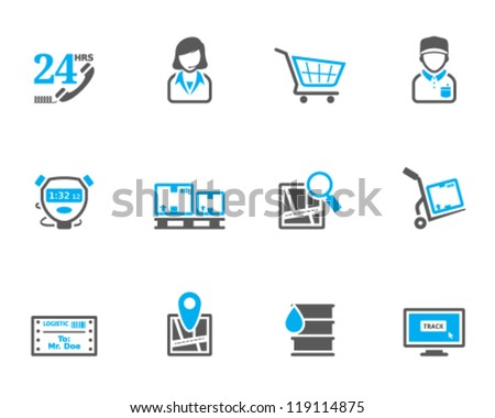 Logistic  icon series in duo tone color style - stock vector