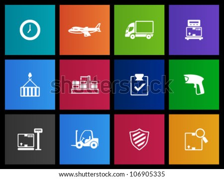 Logistic  icon series in Metro style - stock vector