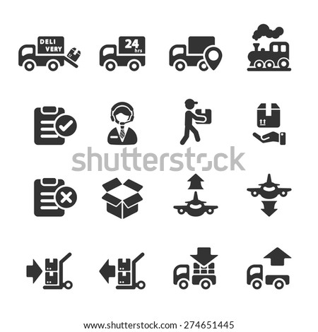 logistic icon set 5, vector eps10.