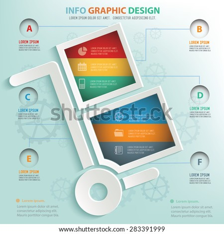 Logistic info graphic design, Business concept design. Clean vector. - stock vector