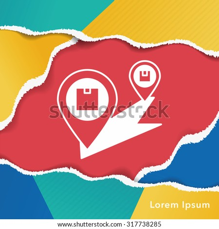 logistics freight map icon - stock vector
