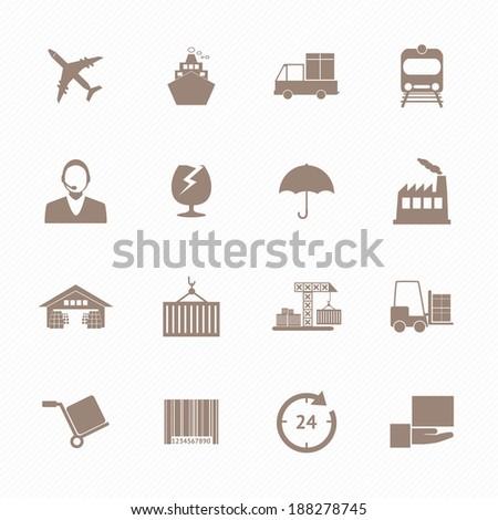 Logistics icons set - stock vector