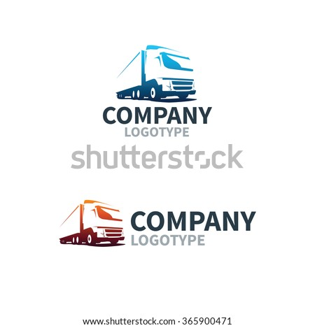 Logistics or delivery service label. Vector logo design template. - stock vector