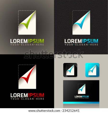 Logo and Abstract web Icon and vector identity symbol. Unusual icon on business card. Graphic design easy editable for Your design.  - stock vector