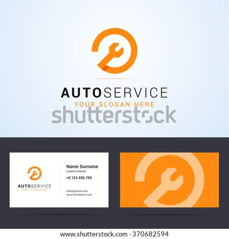logo business card template layout autoのベクター画像素材 370682594