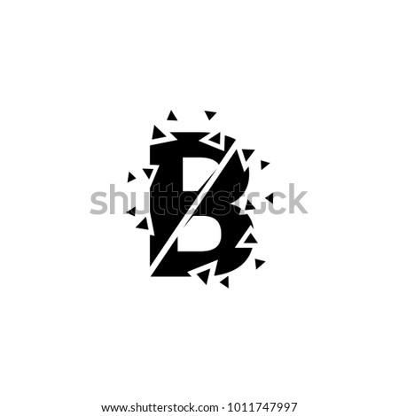 Logo b letter broken b letter stock vector 1011747997 shutterstock logo b letter broken b letter creative logotype icon thecheapjerseys Gallery