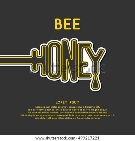 Logo bee honey. Stylish and modern logo for Apiculture products. Vector illustration.