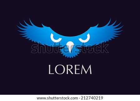 logo bird freedom strength symbol - vector - stock vector