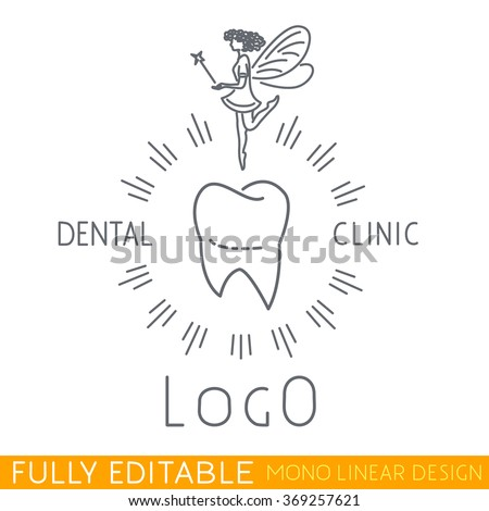 Tooth fairy stock images royalty free images vectors shutterstock logo childrens dental clinic include tooth icon and tooth fairy picture modern thin line logo pronofoot35fo Image collections