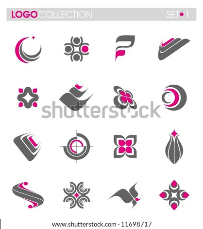 Logo collection - set #1 - stock vector