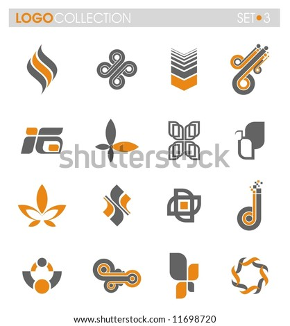Logo collection - set #3 - stock vector