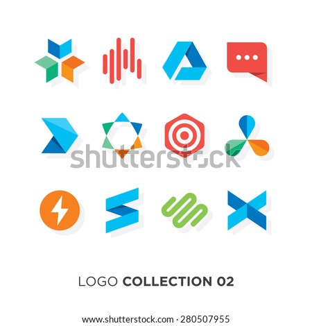 Logo collection 02. Vector graphic design elements for your company logo. - stock vector