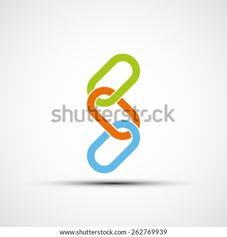 Logo colored chain. Vector image. - stock vector