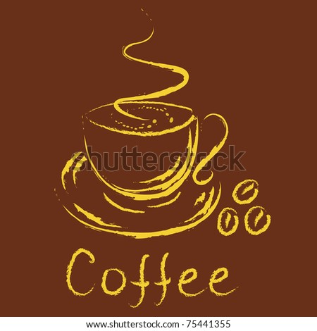 Logo - cup of coffee - stock vector