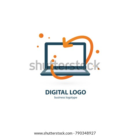 Logo Design Abstract Digital Technology Vector Template Illustration Of Logotype Business Web Marketing