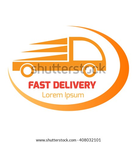 Logo design element business card template stock vector 2018 logo design element with business card template truck delivery fast vector illustration reheart Images