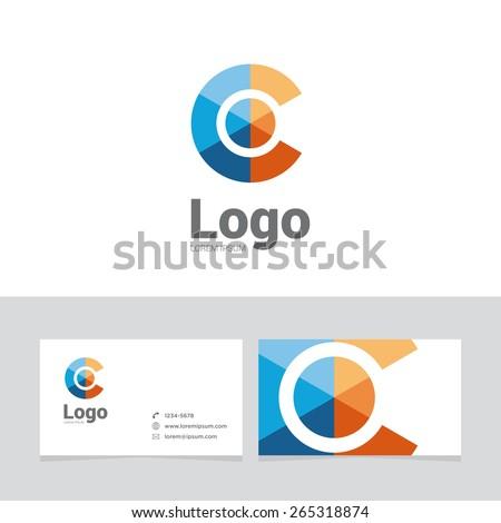 Logo design element two business cards stock vector 265318874 logo design element with two business cards logo letter sphere symbol colourmoves