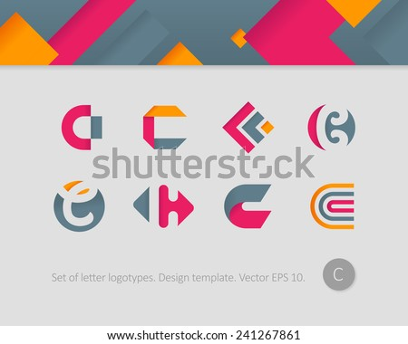 Logo design templates stylized letter c stock vector hd royalty logo design templates stylized letter c spiritdancerdesigns Gallery