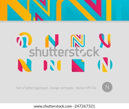 Logo design templates stylized letter n stock photo photo vector logo design templates stylized letter n spiritdancerdesigns Image collections