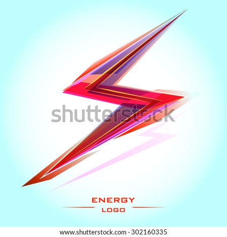 logo discharge electric energy background abstract vector illustration - stock vector