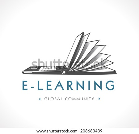 Logo - e-learning - stock vector