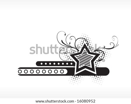 logo floral star illustration