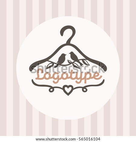 Logo Baby Clothes Shop Picture Hanger Stock Vector 565016104