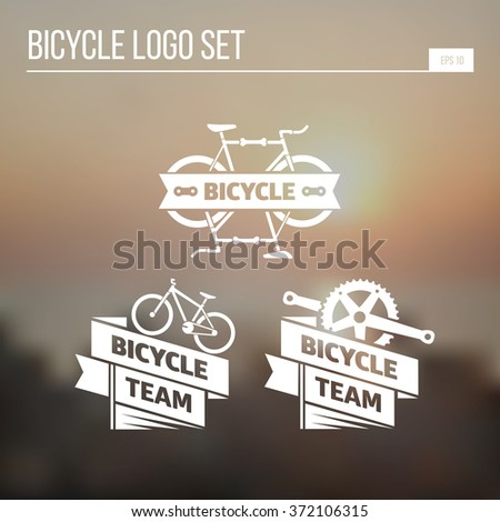 logo for companies associated with bicycles - stock vector