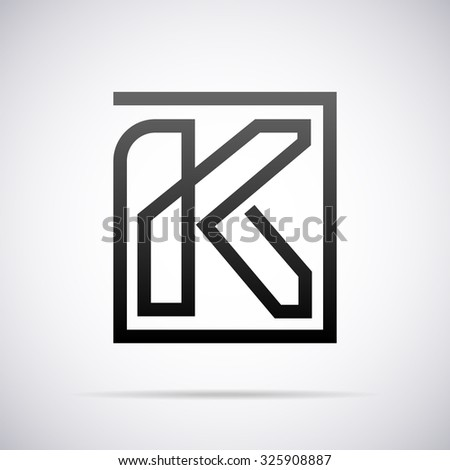 Logo Letter K Design Template Stock Vector (2018) 325908887 ...