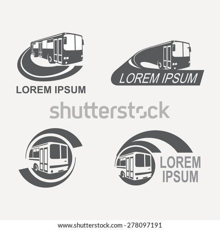logo for the transport company - stock vector