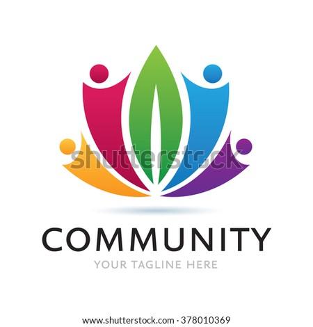 Logo Green Community Icon Element Template Design Logos - stock vector