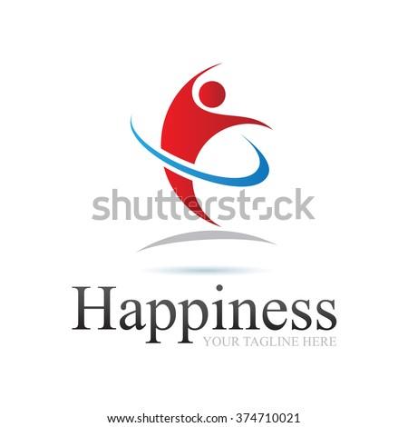 Logo Happiness Icon Element Template Design Logos - stock vector